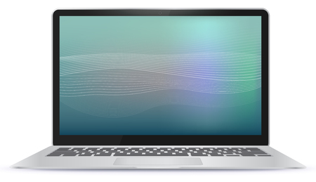 Laptop Computer With Abstract Screen illustration.