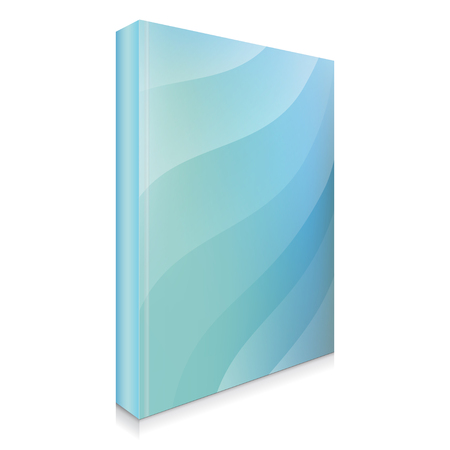 Abstract and Blue Book Cover, Vector Illustration