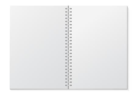 Opened Blank Binder Notebook Vector Illustration