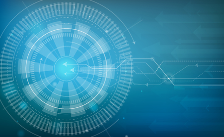 Blue Technology Background Vector Illustration