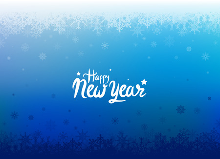 New Year Background with Snowflakes