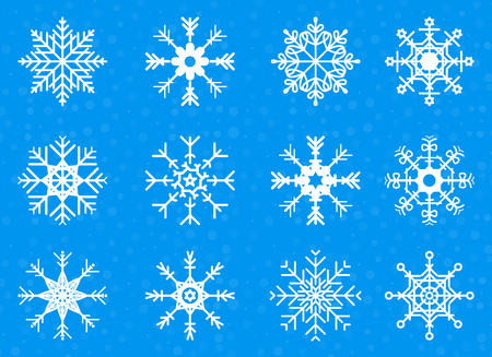 Set of Vector Snowflakes Illustration