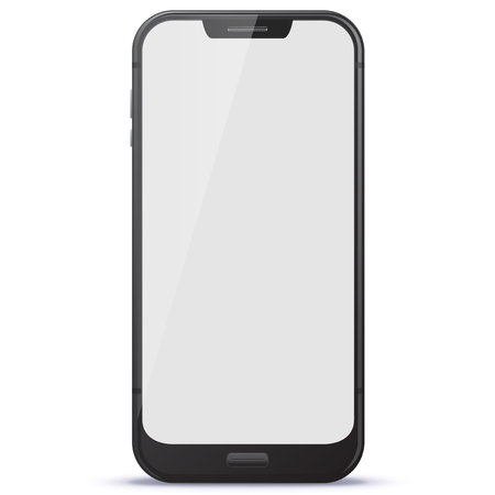Mobile Phone Vector illustration isolated on white background.