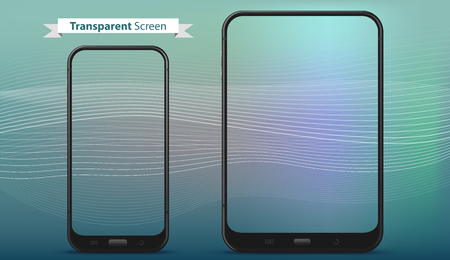 Mobile Phone and Tablet Computer with Transparent Screens