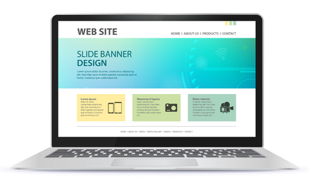 Responsive Web Site Design With Laptop Screen