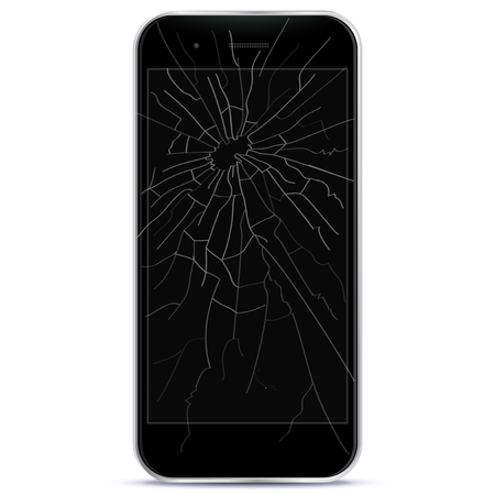Broken Mobile Phone Vector illustration Ilustracja