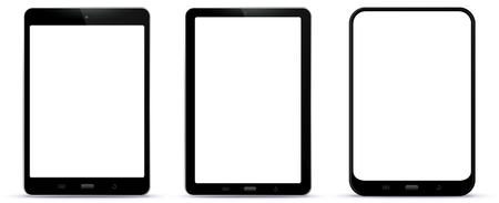 Black Tablet Computers Vector Illustration Ilustração