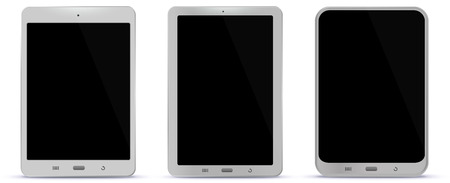 White Tablet Computers Vector Illustration Ilustracja