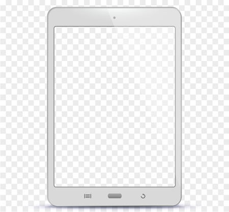 White Tablet Computer With Transparent Screen Vector Illustration