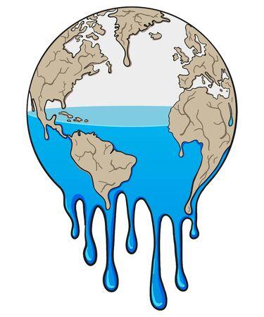 Global Warming and Drought Illustration Ilustração