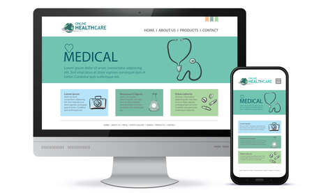 Healthcare and Medical User Interface Design for Web Site and Mobile App.