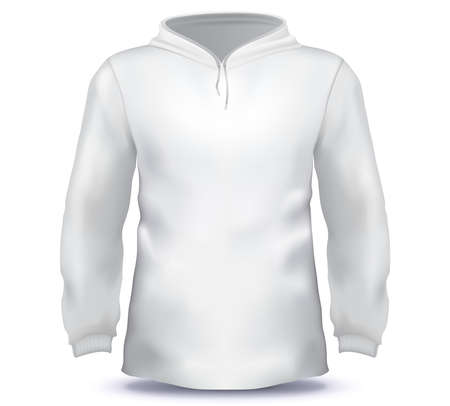 White Male Hoodie sweatshirt vector template. Ilustrace