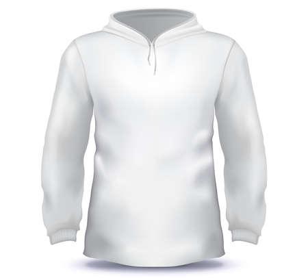 White Male Hoodie sweatshirt vector template. Illusztráció