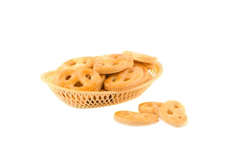 Basket with cookies Stock Photo - 17755447