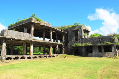 World War 11 Japanese Air Command Building,Tinian Ruins of the Japanese Air Command Building in the Northfield, Tinian, Northern Mariana Islands