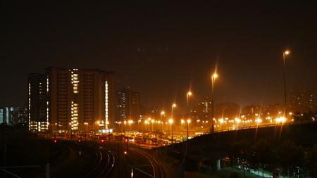 Night lights in Kuala Lumpur, Malaysia Approaching the city of Kuala Lumpur just before daybreak.