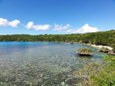 Puntan Diablo, Tinian This beautiful coastal view in Tinian, Northern Mariana Islands is ironically called Puntan Diablo, or Devil's Point