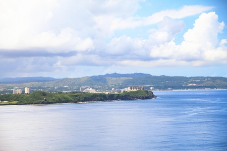 Coastal view of Guam Viewed from the Two Lovers Point in Tumon, Guam