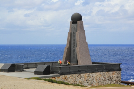 Monuments, Banzai Cliff, Saipan Japanese descendants visit this monument every year to give offerings to their dead ancestors in Banzai Cliff, Saipan but this is open to the public and erected on the Cliffside,