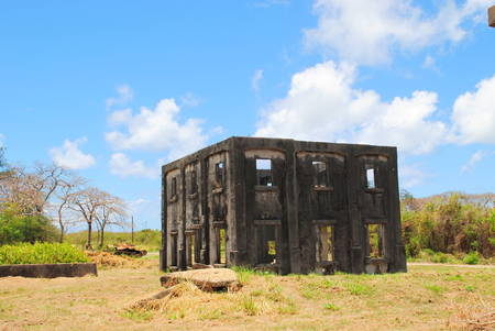 Ruins of Aslito Airfield, Saipan, Northern Mariana Islands Aslito Airfield or Isely Field is a National Historic Landmark district built by the Japanese is now the site of Saipan International Airport.
