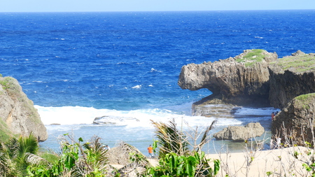 Hidden Beach, Saipan, Northern Mariana Islands The Hidden Beach is one of the treasured destinations at the  northeastern part of Saipan