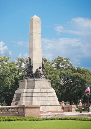 Monument, Rizal park, Manila, Philippines, Closeup shot  Close up of the monument of Philippine hero Dr Jose Rizal at the Rizal Park in Manila.
