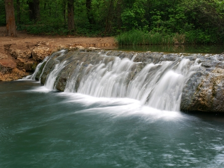 """oklahoma: """"Little Niagara"""" waterfalls, Oklahoma, close up  This waterfalls in Chickasaw National Recreation Area in Sulphur is dubbed as the """"Little Niagara"""" of Oklahoma."""