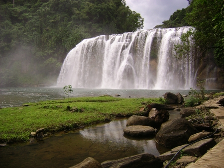 "Tinuy-an Falls located in Bislig, Surigao del Sur, Philippines is dubbed as the ""Niagara Falls"" of the Philippines."