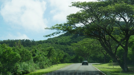 Relaxing drive to Marpi, north end of Saipan, Northern Mariana Islands