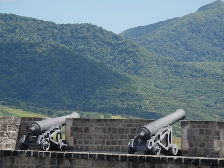 Cannons at the Brimstone Hill Fortress National Park, St Kitts