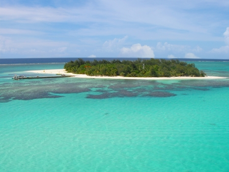 Beathtaking view of Managaha Islands, Saipan, Northern Mariana Islands