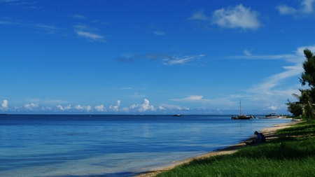 Expanse of blue skies and waters, Saipan