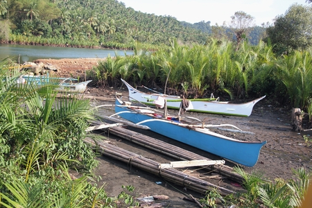 Boats by the riverside, Surigao del Sur, Philippines