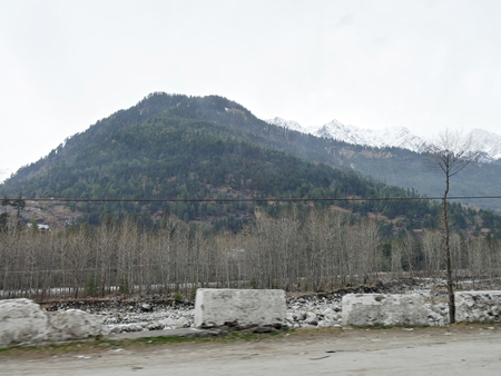 Manali, Himachal Pradesh, with snow-capped mountains in the background