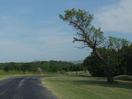 Road tripping around Wichita Mountains in Oklahoma, USA.