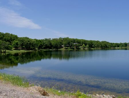 Breathtaking view of a lake at Chickasaw National Recreation Area in Davis, Oklahoma
