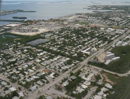 Scenic aerial view of Key West, Florida