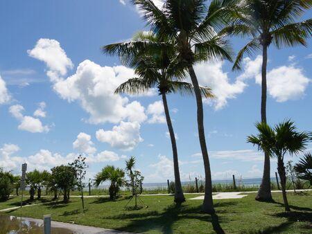 Coastal view along S Roosevelt Boulevard, Key West, Florida on a beautiful day.