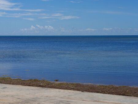 Beach areas along a walkway at S Roosevelt Boulevard, Key West, Florida.