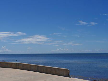 Coastal view along S Roosevelt Boulevard, Key West, Florida.