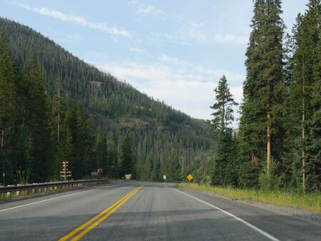 Scenic drives along paved roads at Yellowstone National Park in Wyoming.