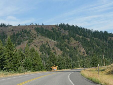 North Fork Highway heading to the east entrance of Yellowstone National Park.