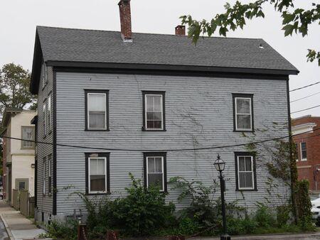 Newport, Rhode Island-September 2017: Quaint buildings and narrow streets around Newport.