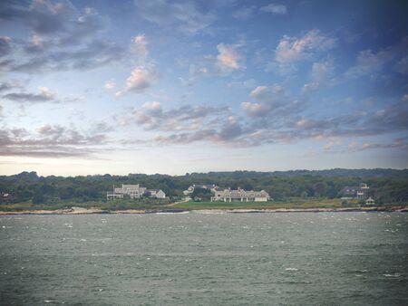 Jamestown, Rhode Island-September 2017: Narragansett Bay on a windy day.