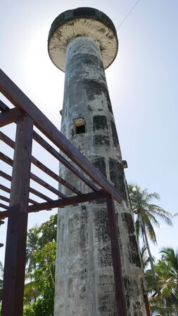 One of the three lighthouses called Tres Marias in Cape San Agustin, Davao Oriental, the southeasternmost tip of the Philippines. 스톡 콘텐츠