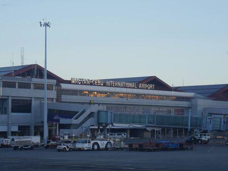Cebu City, Philippines-March 2018: Close up of the Mactan-Cebu International Airport.