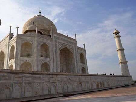 Agra, India- March 2018: The Taj Mahal draws millions of visitors each year.