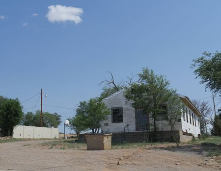 Sta Rosa, New Mexico- August 2018: Structure along the road in Sta. Rosa, New Mexico.