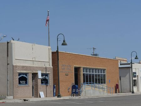 Sta Rosa, New Mexico- August 2018: Street view of the United States Post Office in Sta Rosa, New Mexico.