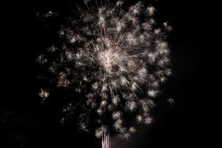 Firework explosion in a dark background